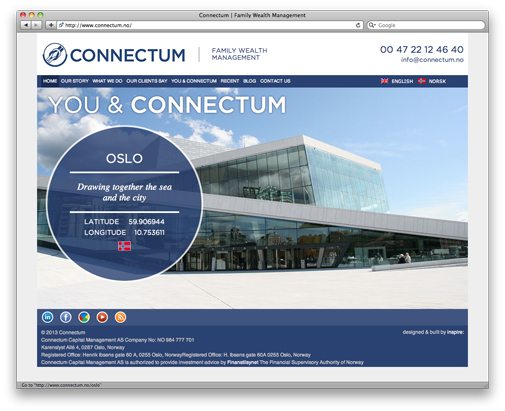 Connectum website